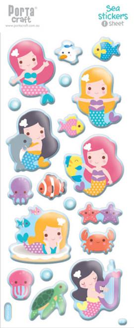 Sticker Sheets #13 Sea (Design E) 1 Sheet (Product # 128152.13E)