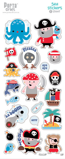 Sticker Sheets #13 Sea (Design F) 1 Sheet (Product # 128152.13F)