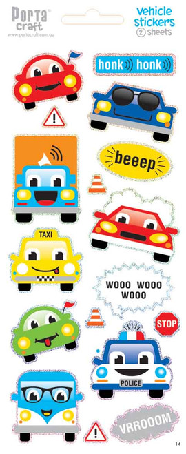 Sticker Sheets #14 Vehicle (Design A) 2 Sheets (Product # 128152.14A)