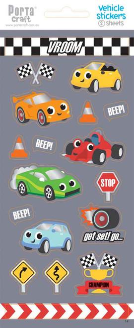 Sticker Sheets #14 Vehicle (Design B) 2 Sheets (Product # 128152.14B)