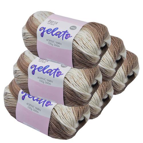 Gelato Acryl Yarn 100g 360m 4ply Coffee (Product # 153338)