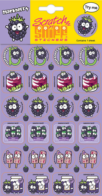 Scratch N Sniff Stickers - Blackberry Scented (Product # 167045)