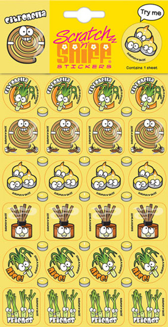 Scratch N Sniff Stickers - Citronella Scented (Product # 167052)