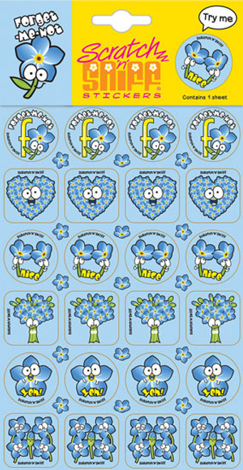 Scratch N Sniff Stickers - Forget-Me-Not Scented (Product # 167069)