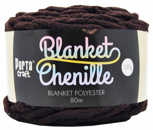 Chenille Blanket Yarn 100g 80m 12ply Chocolate (Product # 151358)