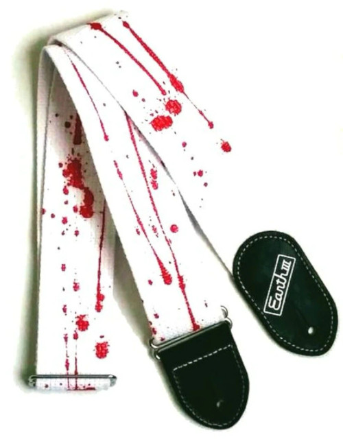 """Blood Splatter"" Heavy Metal Guitar Strap! More Coming Soon!"