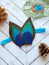 Sparkly Feather Peacock Headband