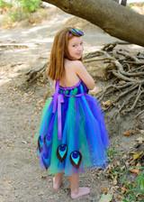 Purple Peacock Tutu Dress