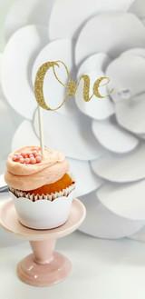 First Birthday Cupcake Topper