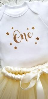 Twinkle Little Star First Birthday Tutu Set