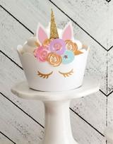 Unicorn Cupcake Wrappers | Pastel