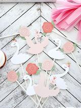 Swan Princess Cupcake Toppers