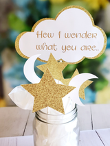 Twinkle Little Star and Moon Baby Shower 5 Piece Centerpiece