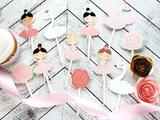 Swan Princess and Ballerina Cupcake Toppers
