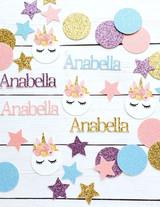 Personalized Pastel Unicorn Confetti