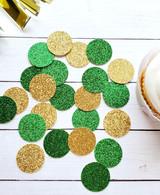 Green and Gold Garden Theme Confetti