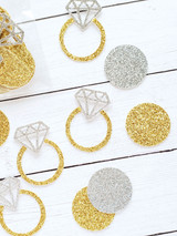 Diamond Engagement Ring Party Confetti