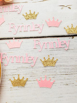 Personalized Crown Party Confetti