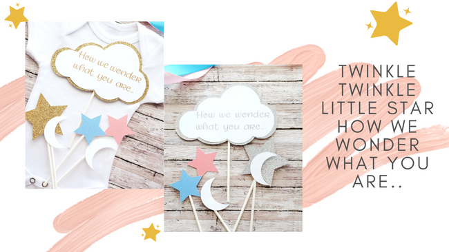 Plan the Perfect Gender Reveal Party with these adorable 5 piece Centerpieces!