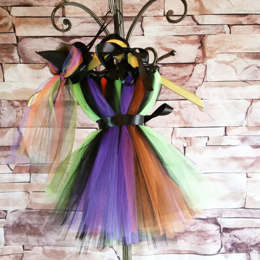 Witch Tutu Dress with Witch's Hat