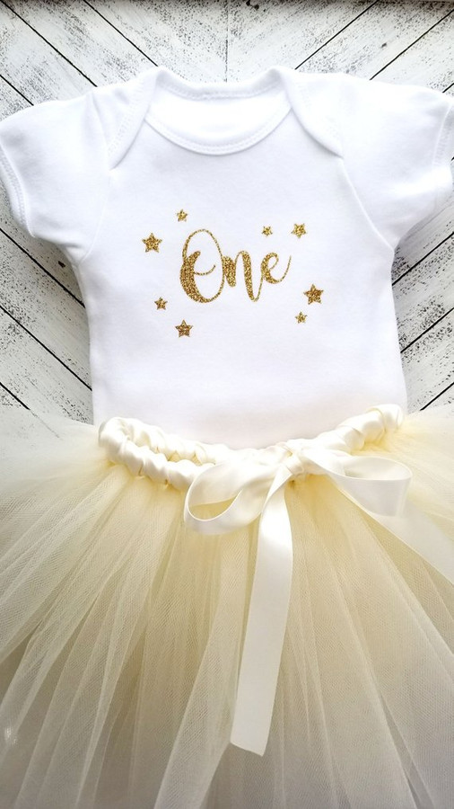 Twinkle Little Star First Birthday Tutu Set