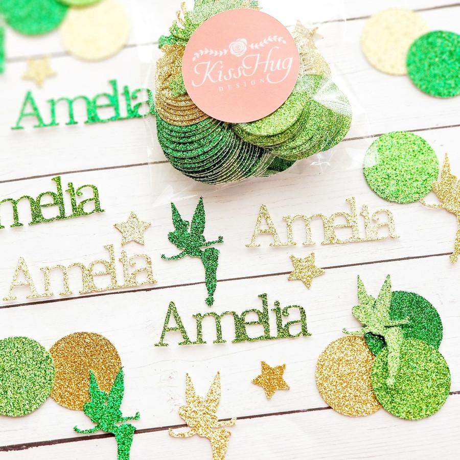 Personalized Green Fairy Confetti