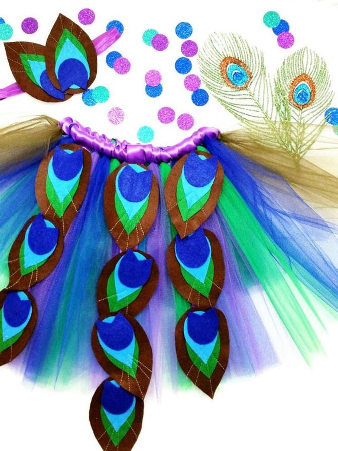 Purple Peacock Tutu with Matching Headband