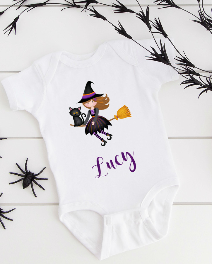 Personalized Halloween Baby Witch Tutu Set