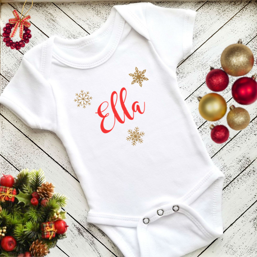 Personalized Christmas Onesie and Tutu Set