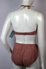 Vintage 1950s French Style Red and White Gingham Bikini