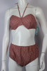 Women's Vintage 1950s French Style Red and White Gingham Bikini SOLD!