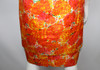 Vintage 1960s Mr. Blackwell Orange Floral Print Dress