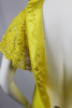 Vintage 1960s Mr. Blackwell Yellow Chest Ruffle Wiggle Dress
