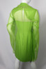 Vintage 1960s Lime Green Dress with Chiffon Overlay