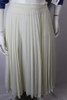 Vintage 1980s Accordion Pressed Cream Chiffon Skirt