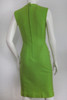"""Mr. Blackwell"" Lime Green w/ Bead & Rhinestone Flower Detail Sleeveless Dress"