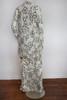 SOLD Halston for John Baldwin 2pc White w/ Black Floral Print Dress & Overcoat