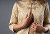 Christian Dior Gold Embroidered Robe