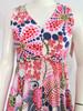 1960's Stephen O'Grady Multi Colored Dot Maxi Dress
