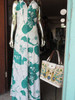 SOLD Green and White Floral Maxi Dress