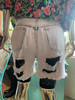 """""""Traffic"""" Denim Cut-offs Shorts W/ Black Lace Biker Shorts"""