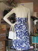 SOLD Liberty House Blue & White Patterned Dress
