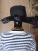 Mr. John Jr. Wide Brimmed Navy Hat w/ Bow