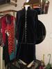 Yves Saint Laurent 2pc. Blue Velvet Jacket & Skirt