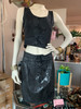 """""""Contempo Casuals"""" 2pc. Black Snake Skin Top&Skirt"""