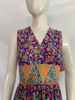 Purple, Orange, & Green Floral Maxi Dress