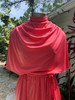 Gail Gray Coral Smock Front Dress w/ Braided Belt