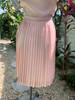 R&K Originals Pink Pleated Dress w/ Belt