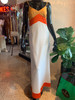 """Mr.Aref California"" Color block Poly Maxi Dress"