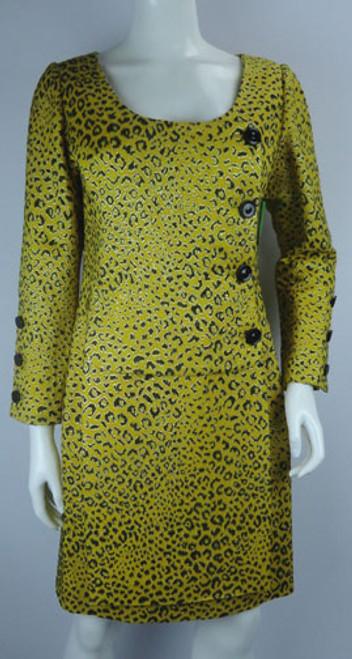 Vintage 1980s Galanos for Saks Fifth Avenue Leopard Print Suit Dress